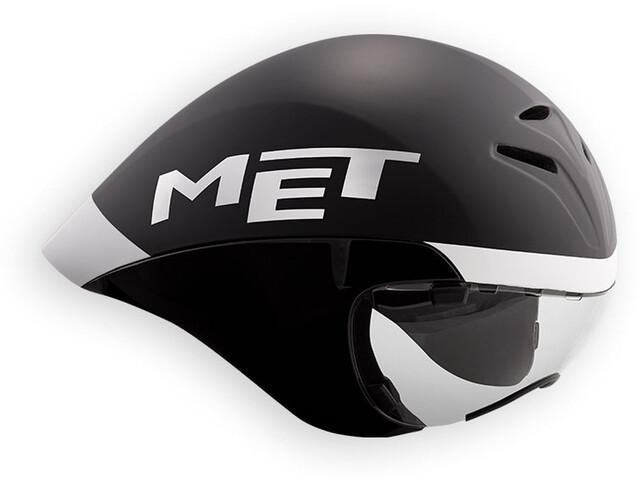 MET Drone Kask rowerowy, black/white